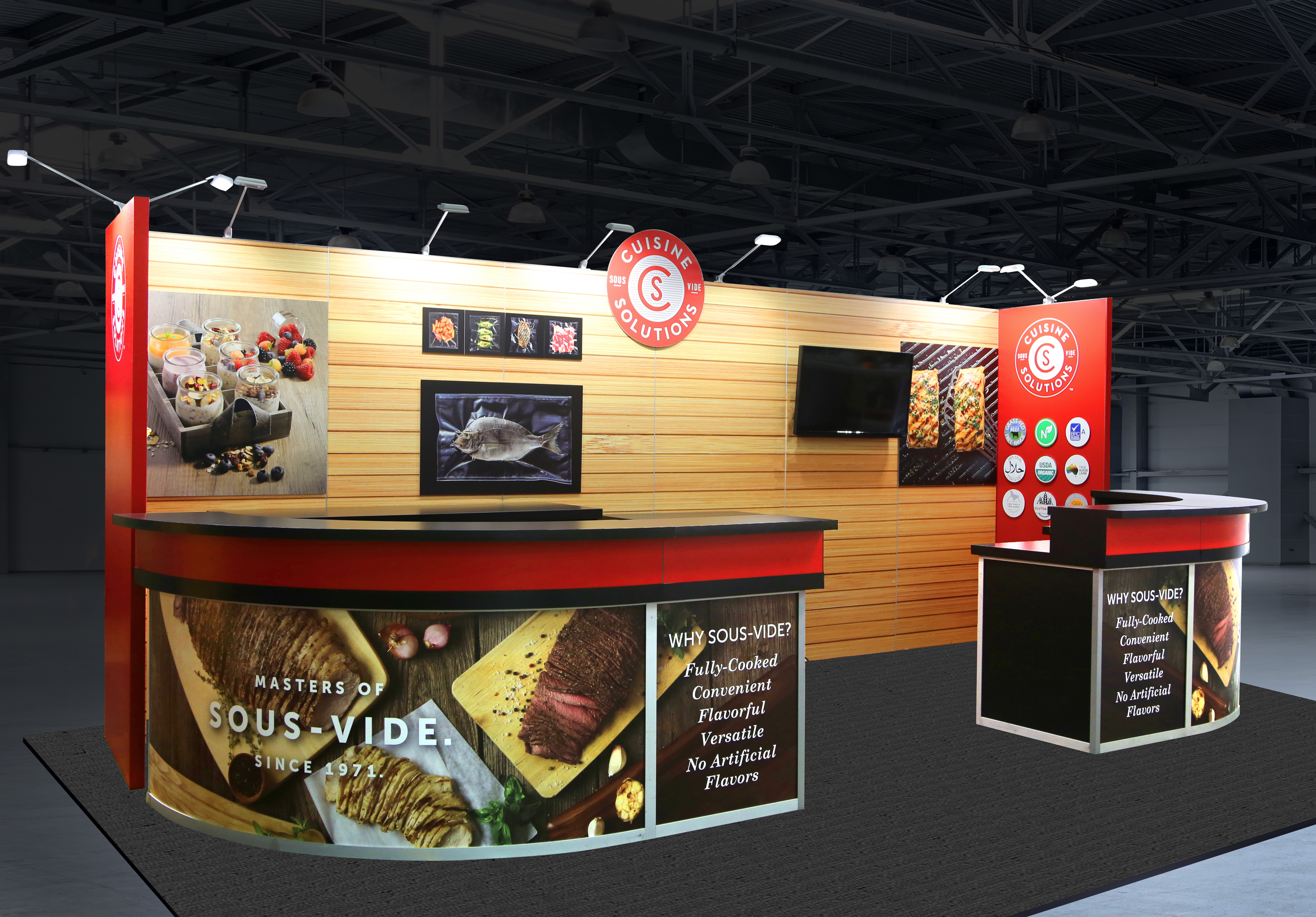 Cuisine Solutions custom inline exhibit