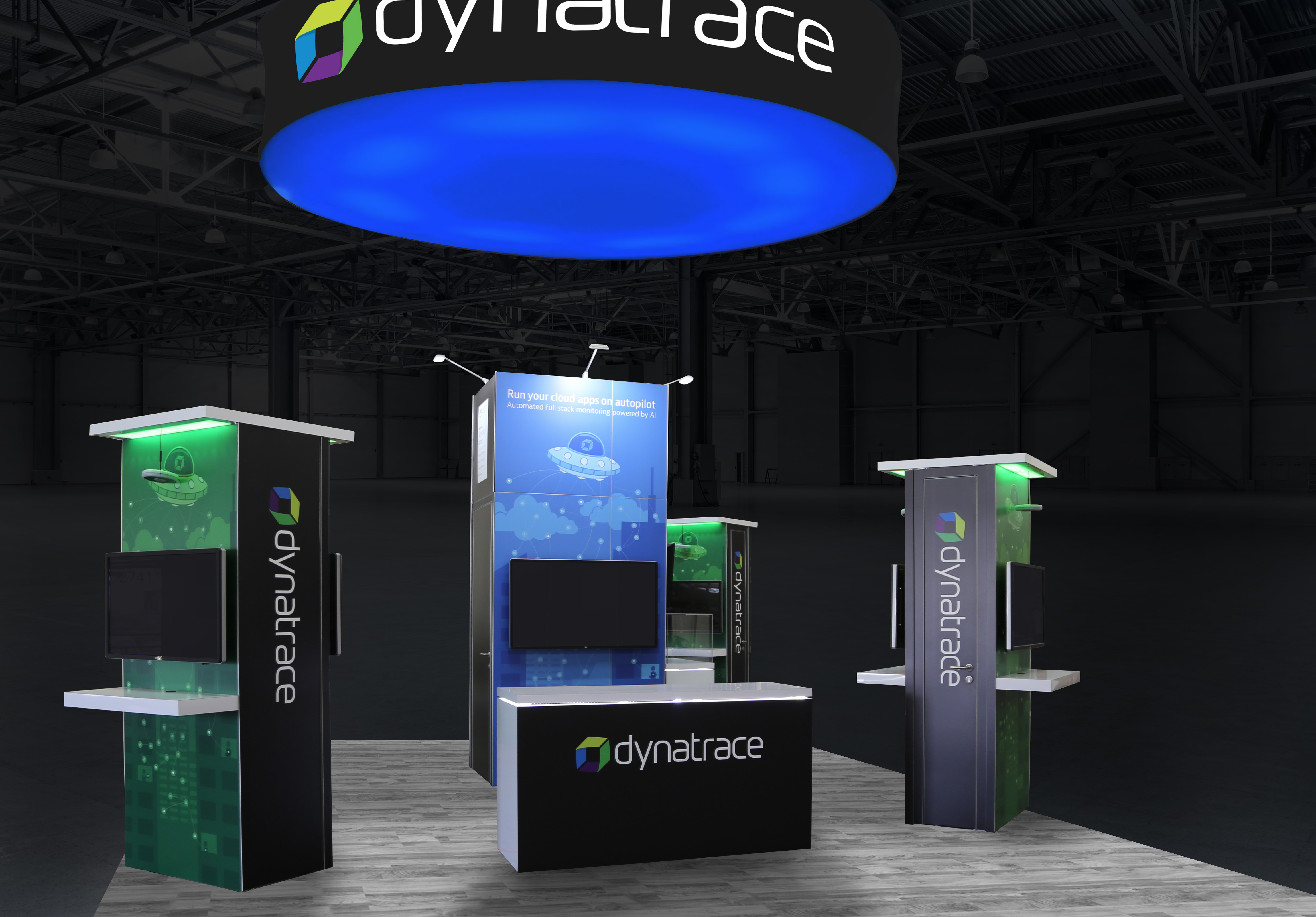 Custom Dynatrace island booth