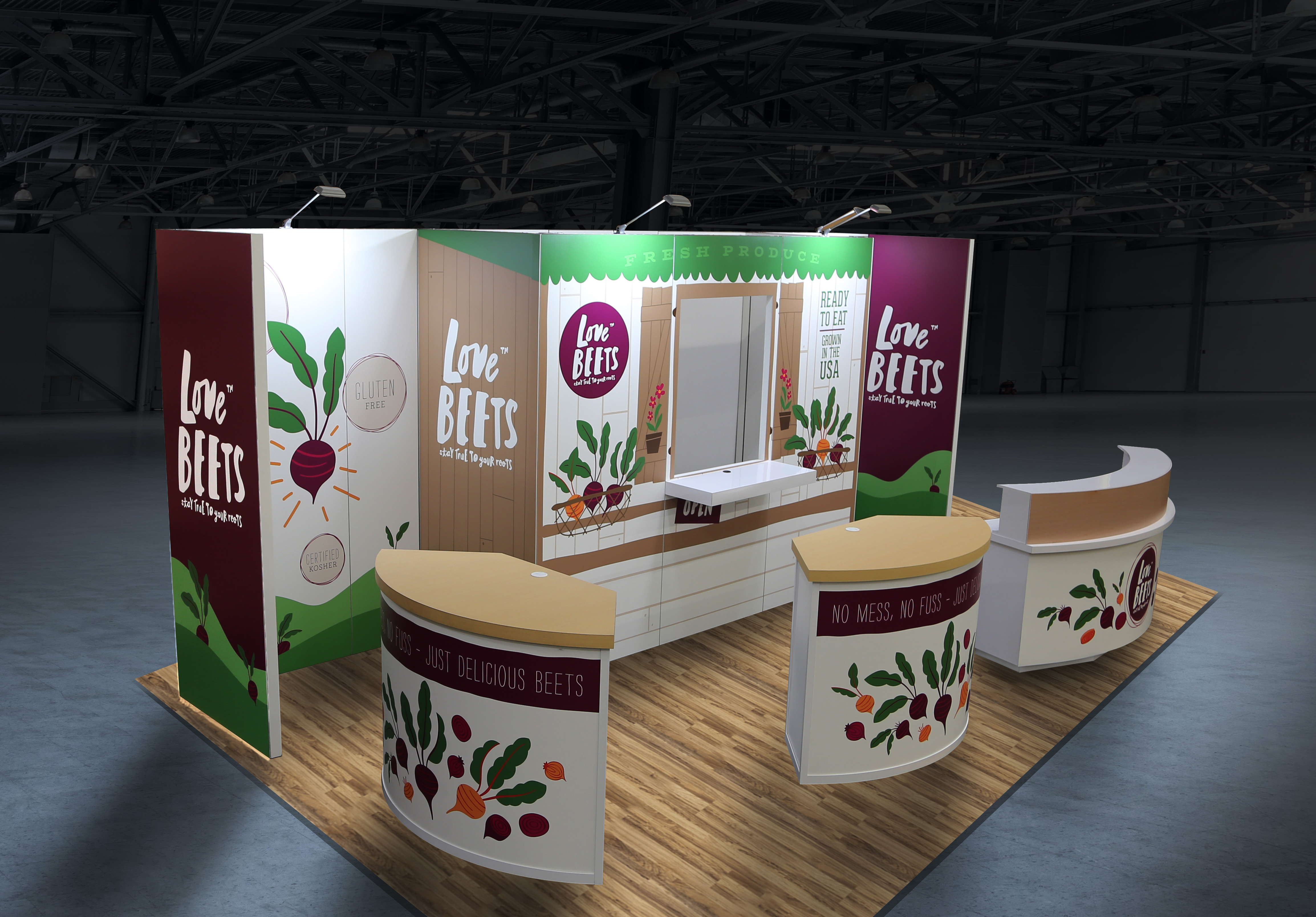 Love Beets Custom Trade Show Display