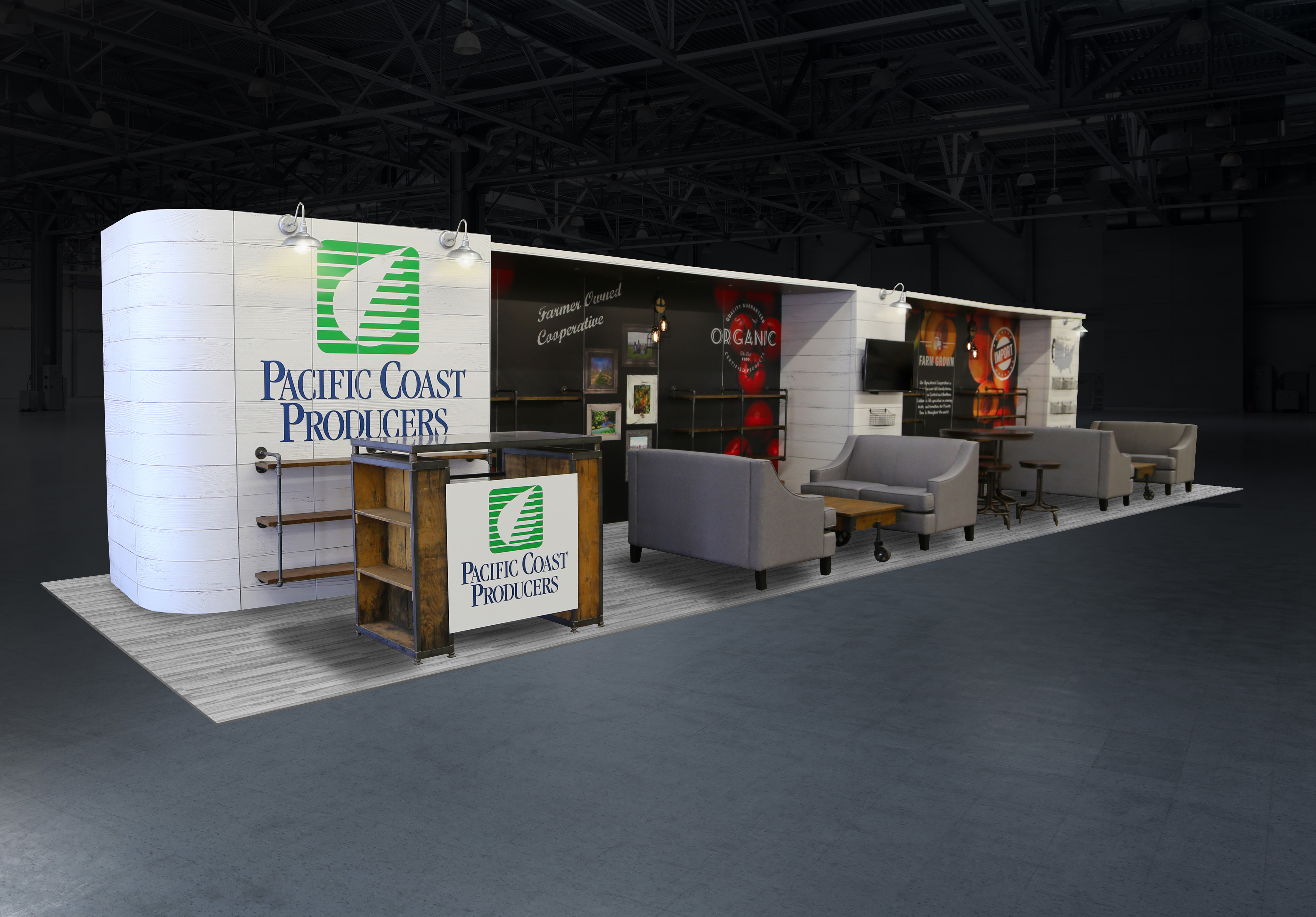 Pacific Coast Producers custom inline exhibit