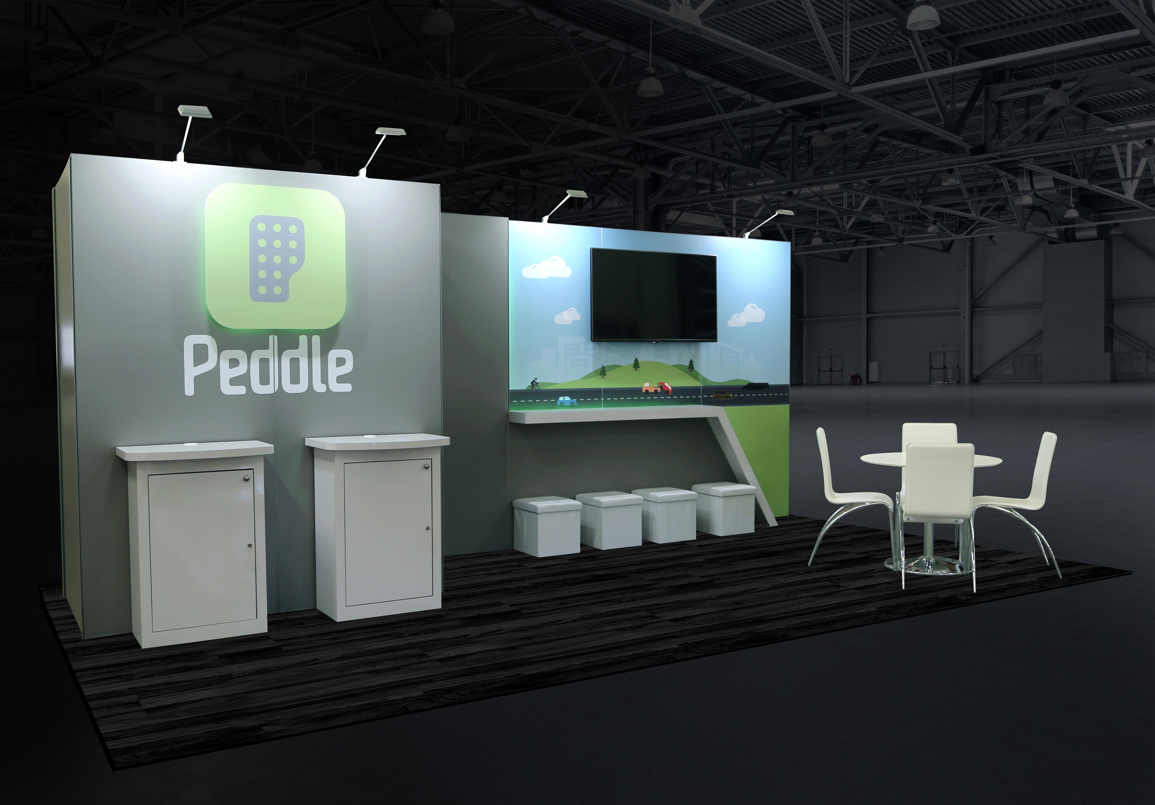 Custom Peddle Trade Show Display