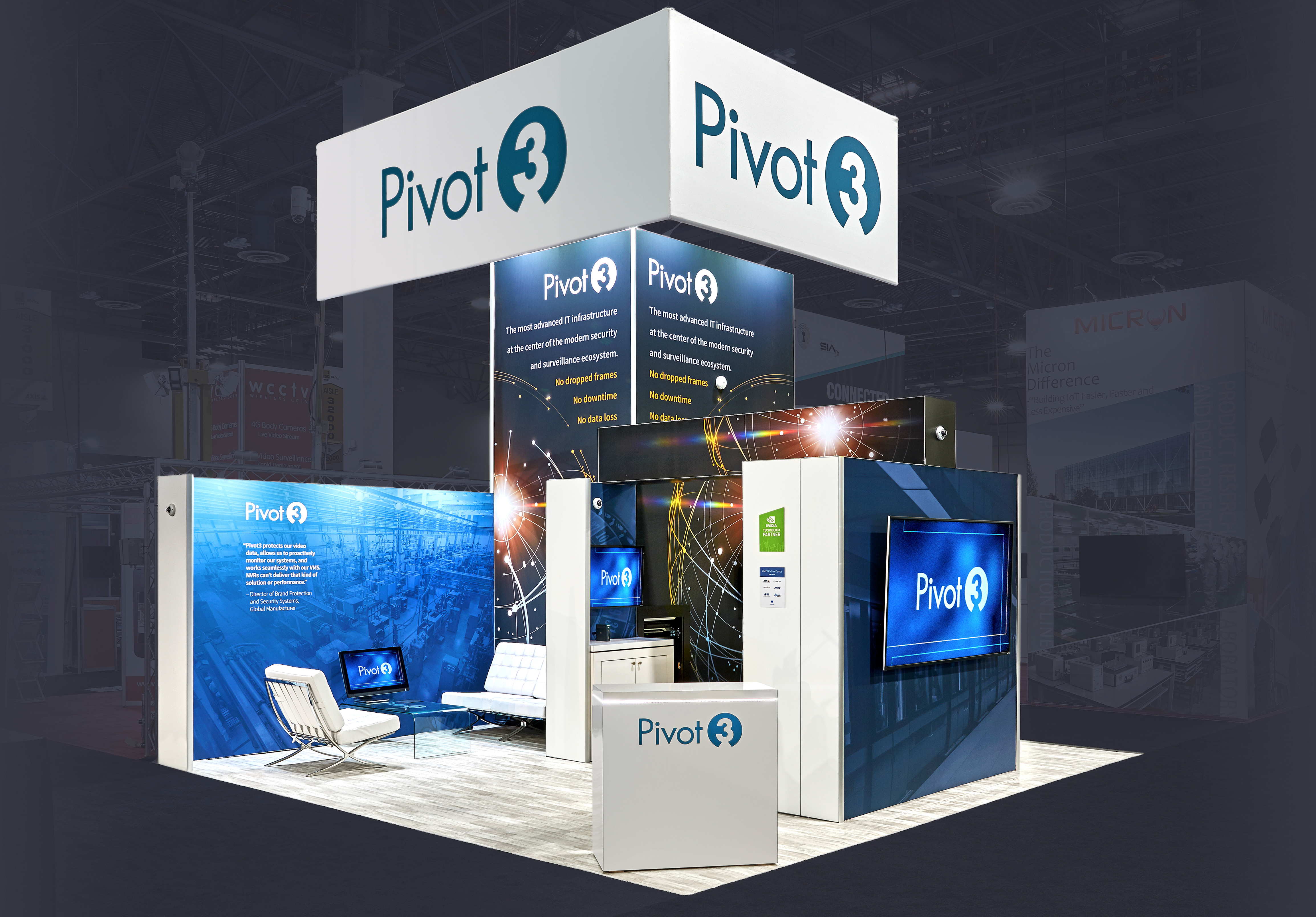ISC West trade show booth