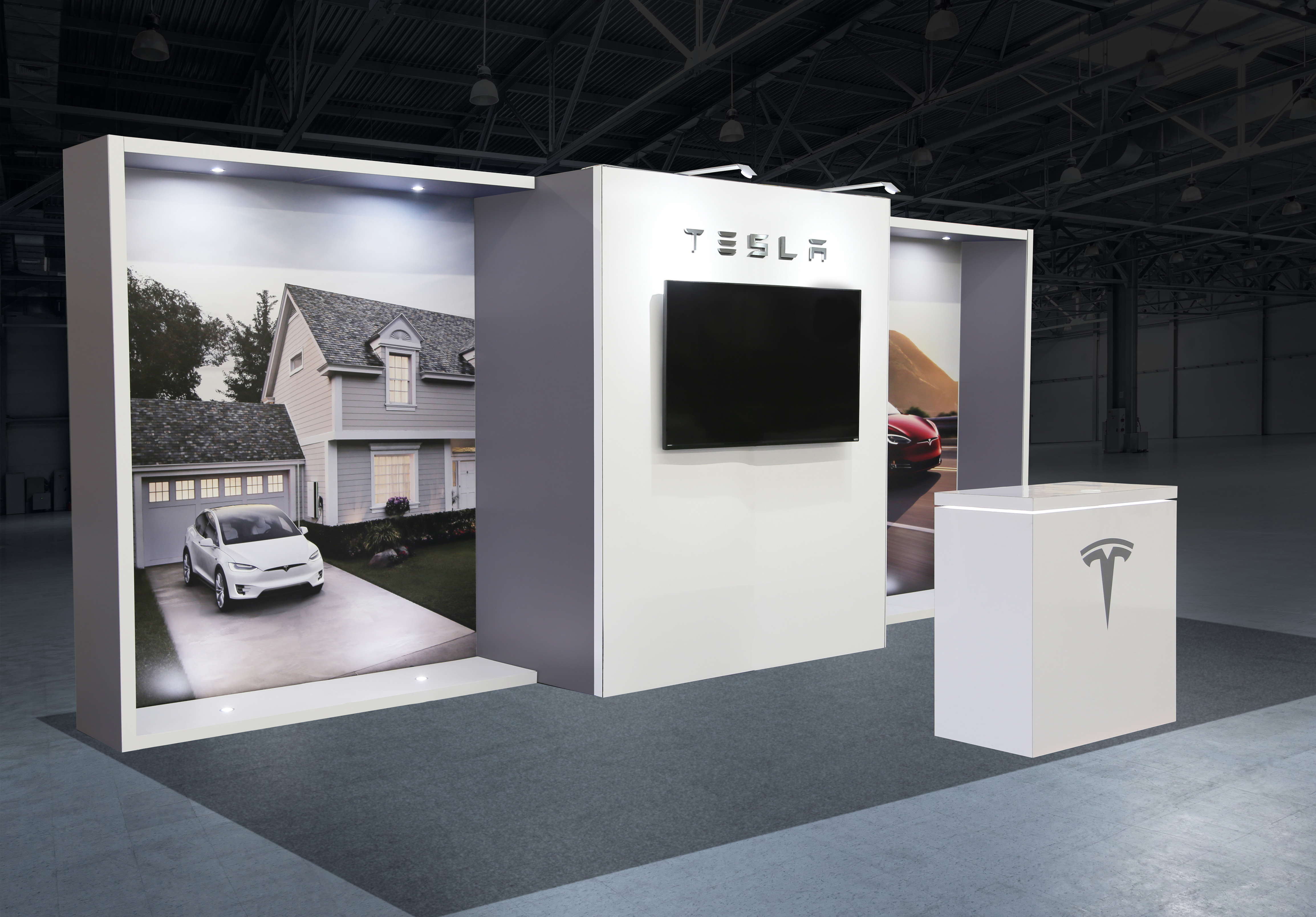 Custom Tesla Trade Show Display