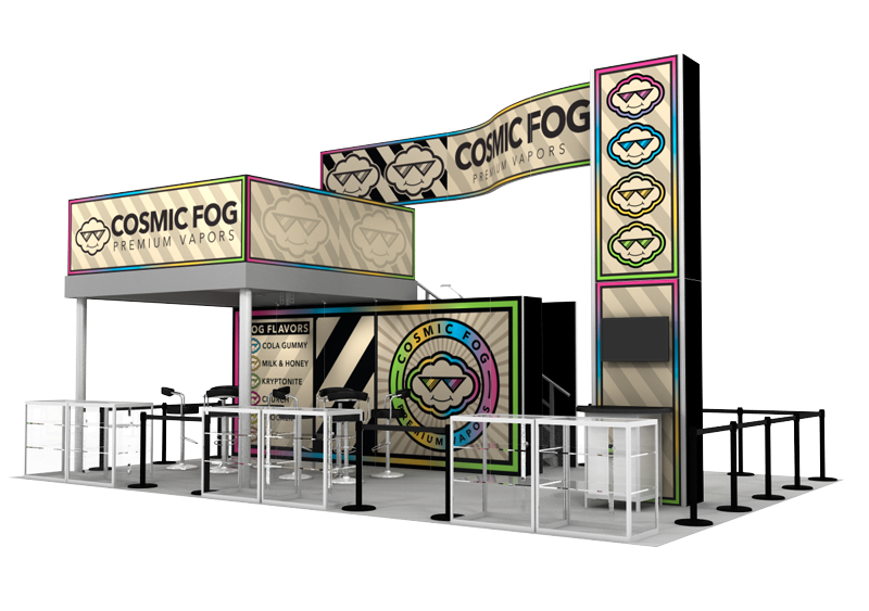 Cosmic Fog Trade Show Booth Rental