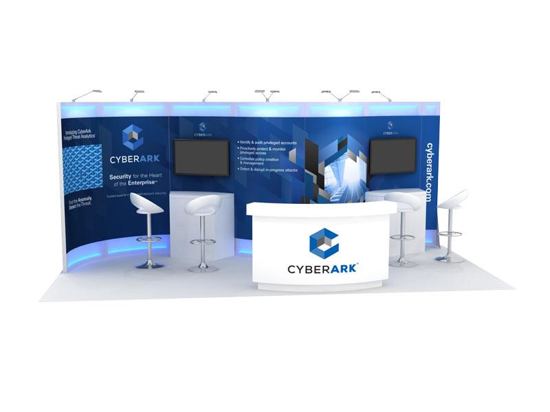 CyberArk 10x20 inline trade show rental