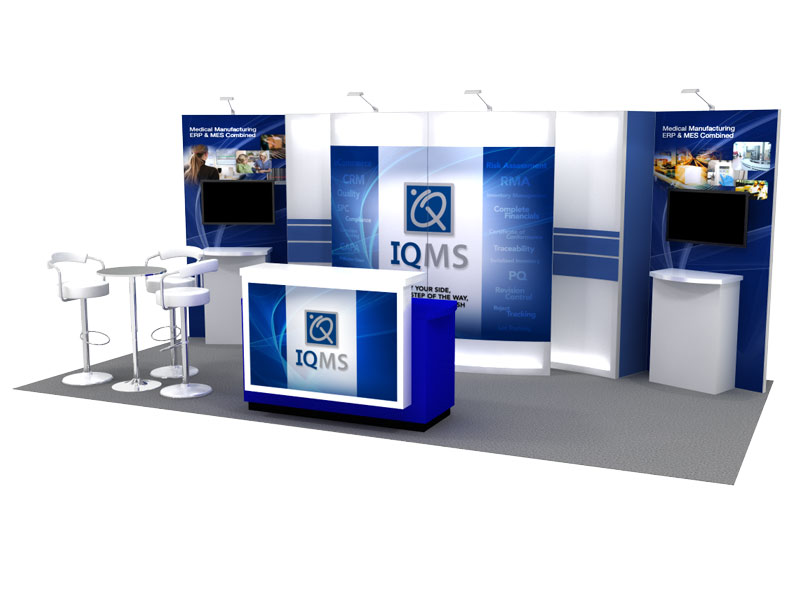 IQMS 10x20 Trade Show Booth Rental - View 1