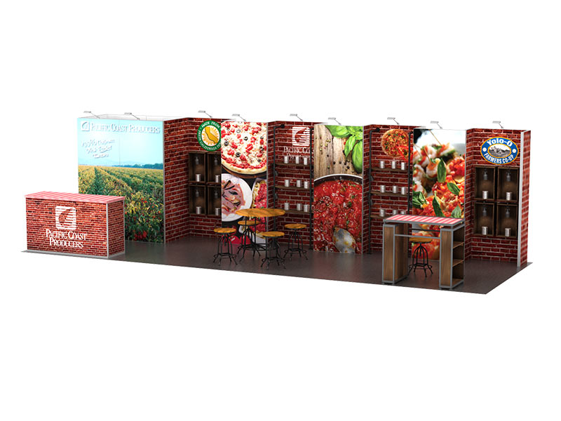 PcP 10x30 inline booth rentals