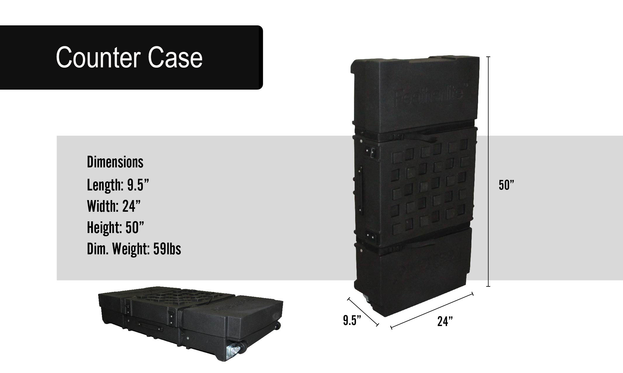 Valencia Portable Displays Counter Case