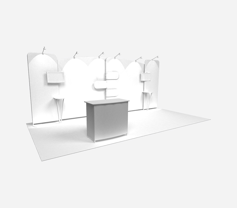 Perspective Trade Show Booth Rental Left Blank