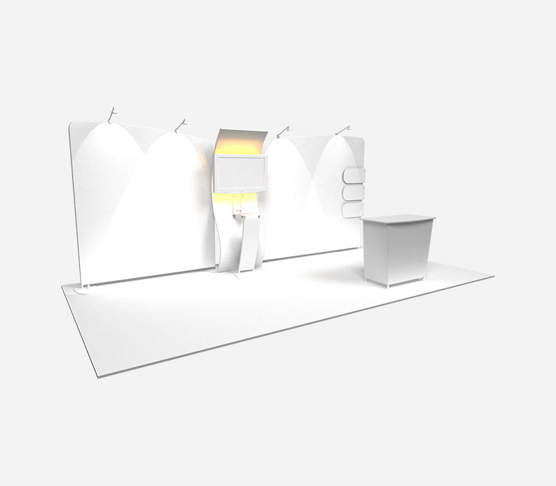 Perspective Trade Show Display Rental White Left