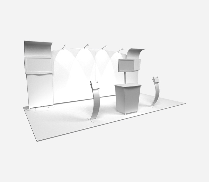 Perspective Trade Show Expo Display Rental White