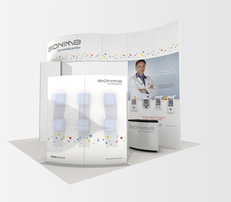 Bionime 20x20 Trade Show Booth Rental Right
