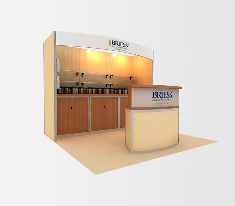 Briess 10x10 Trade Show Both Rental Left
