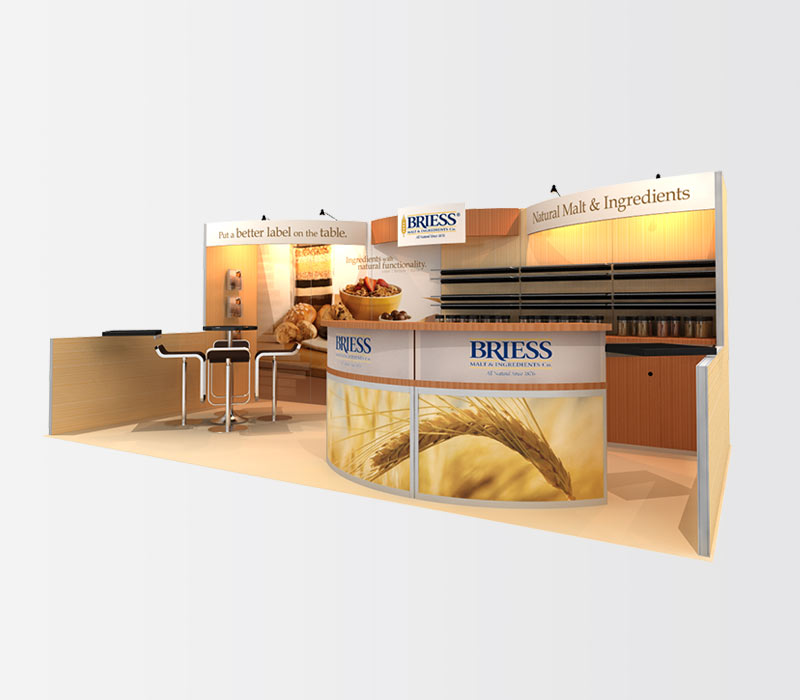 Briess 10x20 Trade Show Booth Right
