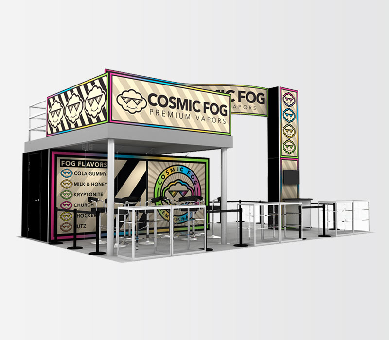CosmicFog 20x30 Double Deck Trade Show Display Rental