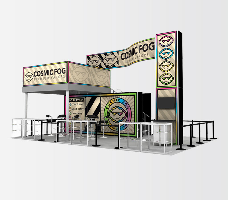 CosmicFog 20x30 Double Deck Display Rental