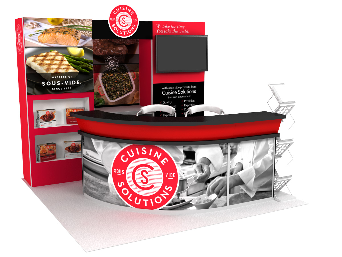 Cuisine 10x10 Trade Show Display Rental