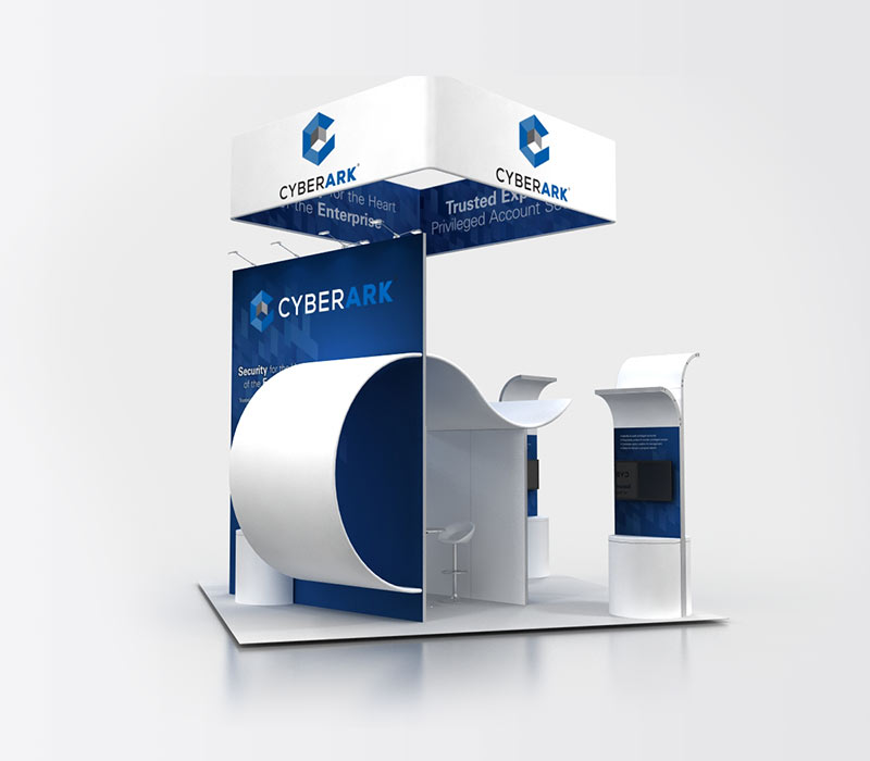 CyberArk 20x20 Island Exhibit Rental Back