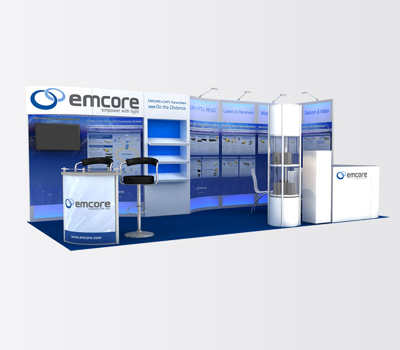 Emcore 10x20 Inline Exhibit Display Rental