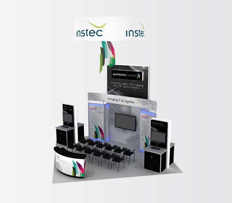 Instec 20x20 Island Trade Show Booth Rentals