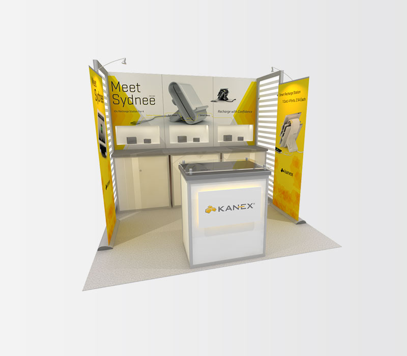 Kanex 10x10 Trade Show Booth Rental