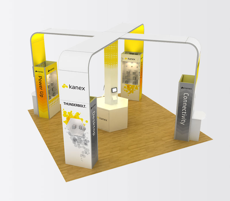 Kanex 20x20 Island Exhibit Booth Rental