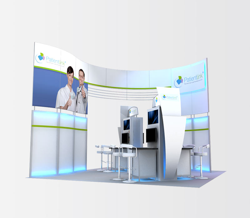 PatientLink 20x20 Trade Show Exhibit Rental Left