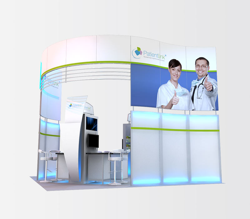 PatientLink 20x20 Trade Show Exhibit Rental