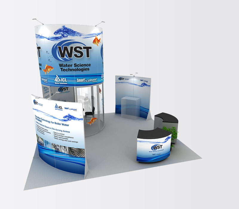 WaterScience 20x20 Island Exhibit Booth