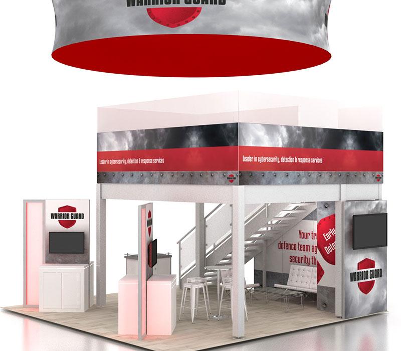 Custom Double Deck Trade Show Display