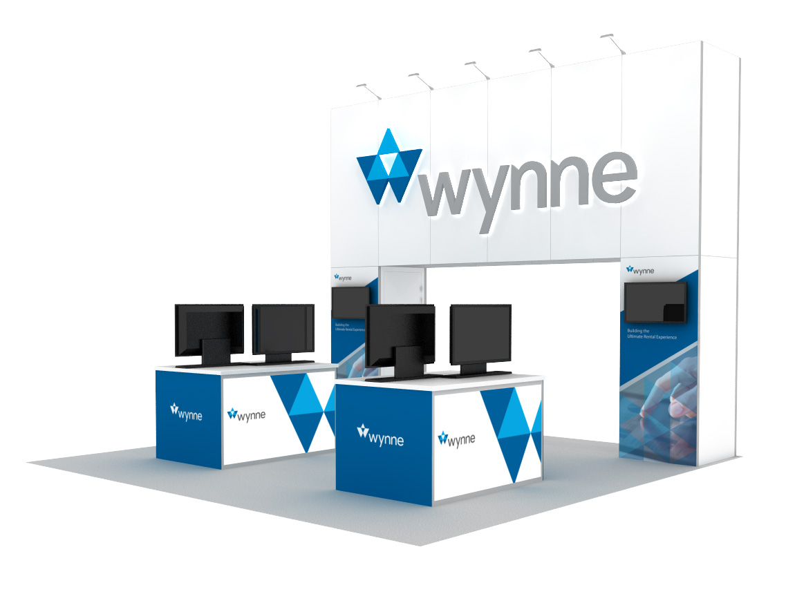 Wynne 20x20 Inline Expo Booth Rentals
