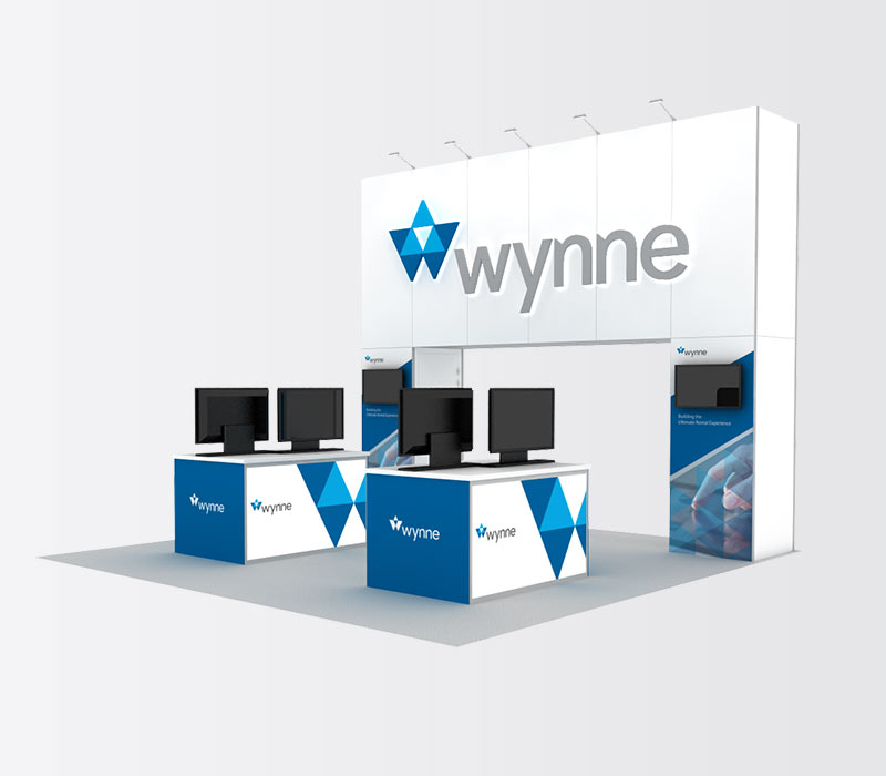 Wynne 20x20 Inline Trade Show Exhibit Booth Rental