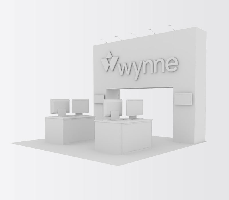 Wynne 20x20 Inline Trade Show Booth Rental