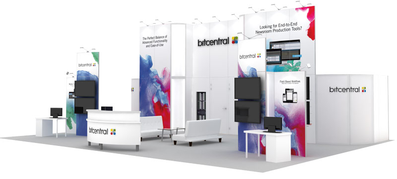 Custom Trade Show Display 30x40 Bitcentral