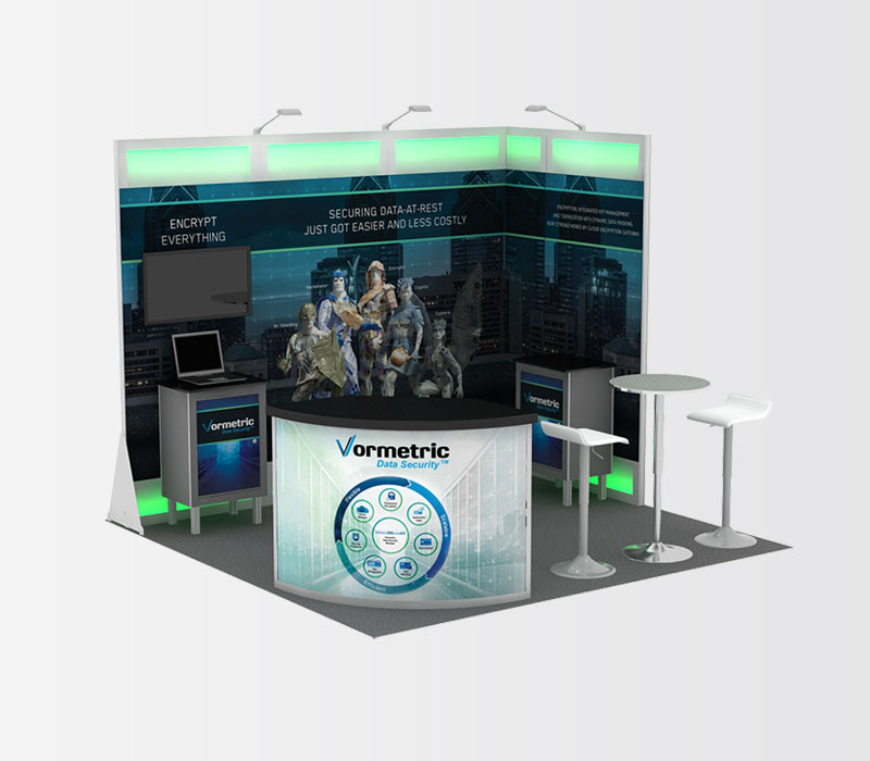 Vormetric 10x10 Trade Show Booth Rental