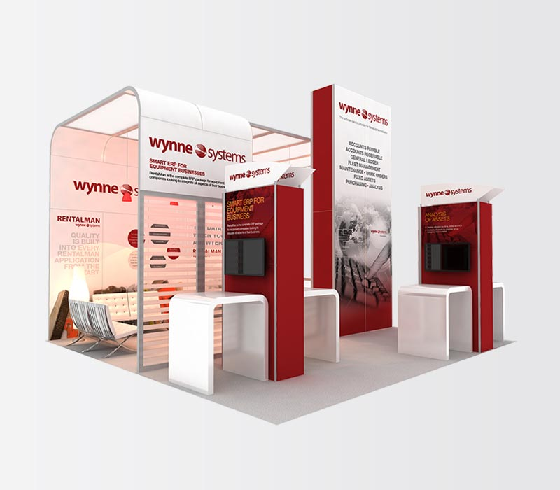 Wynne 20x20 Inline Exhibit Booth