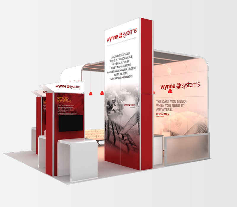 Wynne 20x20 Inline Exhibit Booth Rental Right