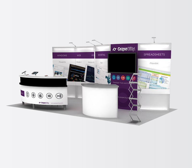 GrapeCity 10x20 Inline Exhibit Booth Rental