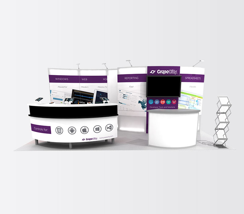 GrapeCity 10x20 Inline Exhibit Booth Rental Front