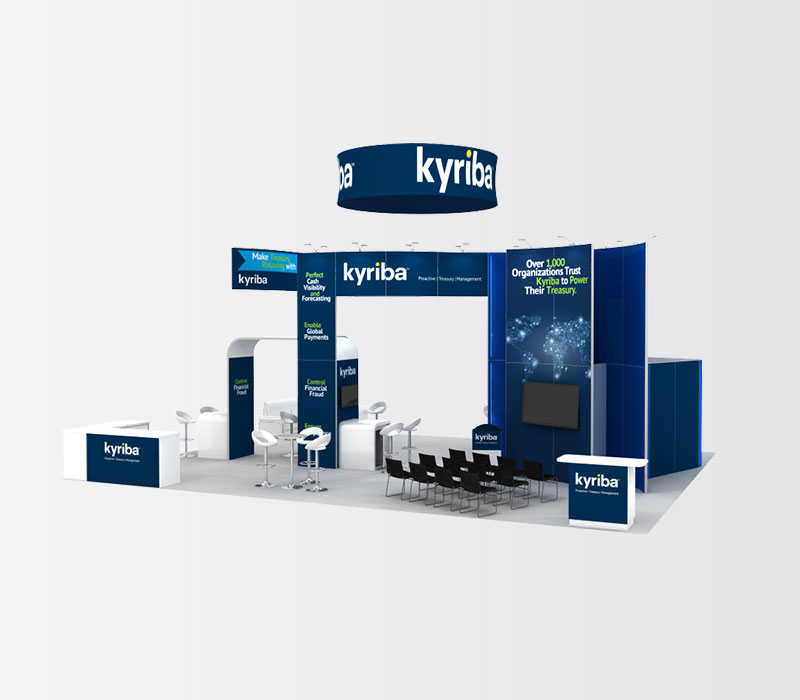 Kyriba 30 x 40 Island Exhibit Rental