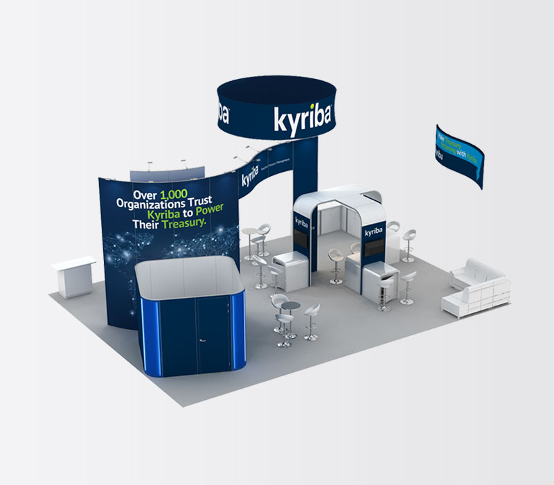 Kyriba 30 x 40 Island Exhibit Rental Above