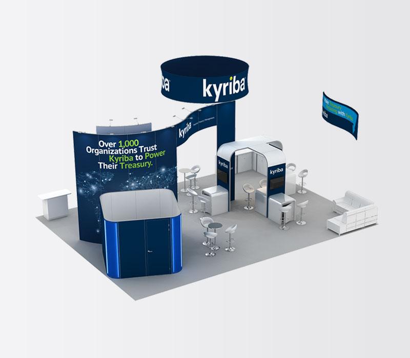Kyriba 30 x 40 Island Exhibit Rental Above
