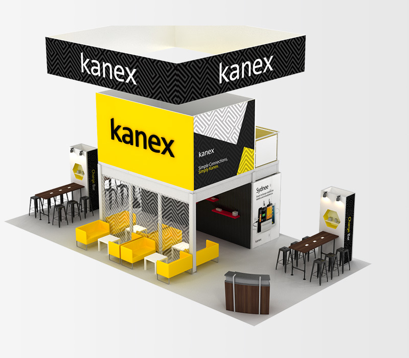 Kanex 20x40 Trade Show Display Rental Above