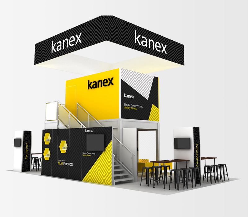 Kanex 20x40 Trade Show Display Seating