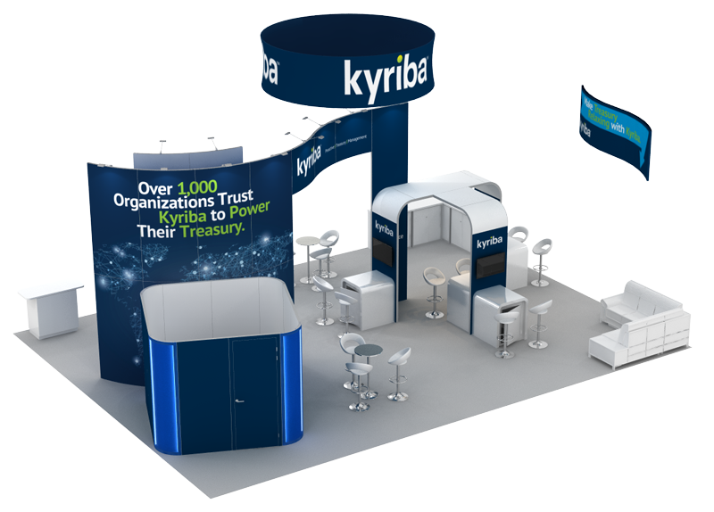 Kyriba 30x40 Trade Show Booth Rental - Above
