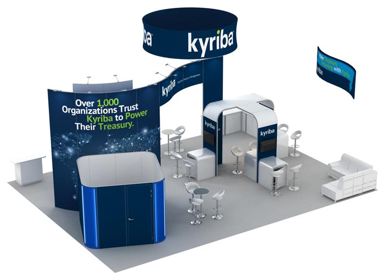 Kyriba 30x40 Trade Show Booth Rental - Above