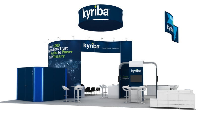 Kyriba 30x40 Trade Show Booth Rental - Front