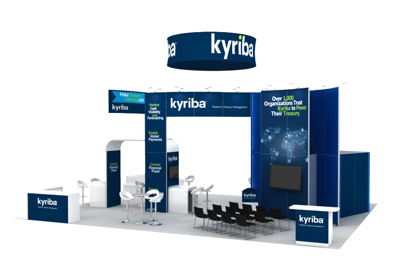 Trade Show Booth Display 30x40 Kyriba