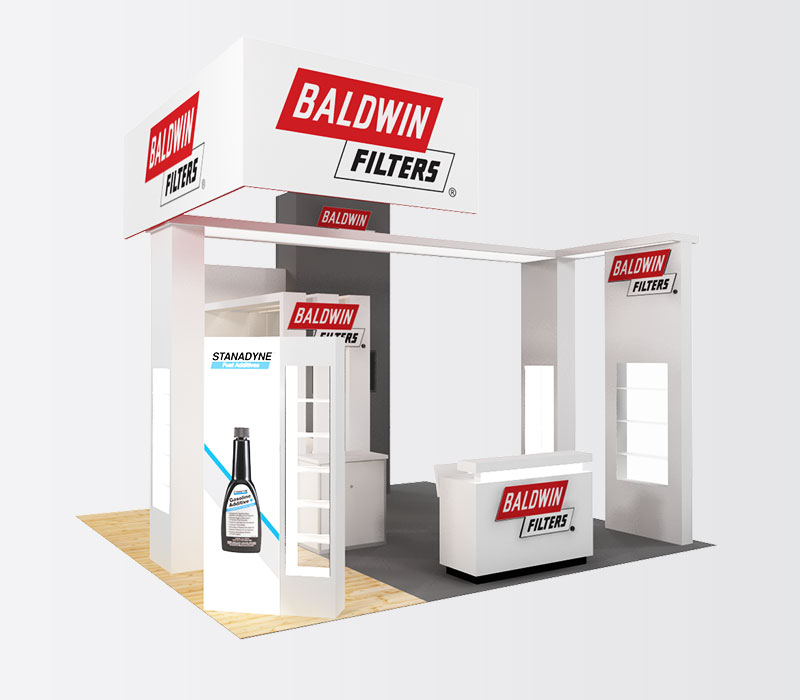 BaldwinFilters 20x20 Trade Show Display - Front Left