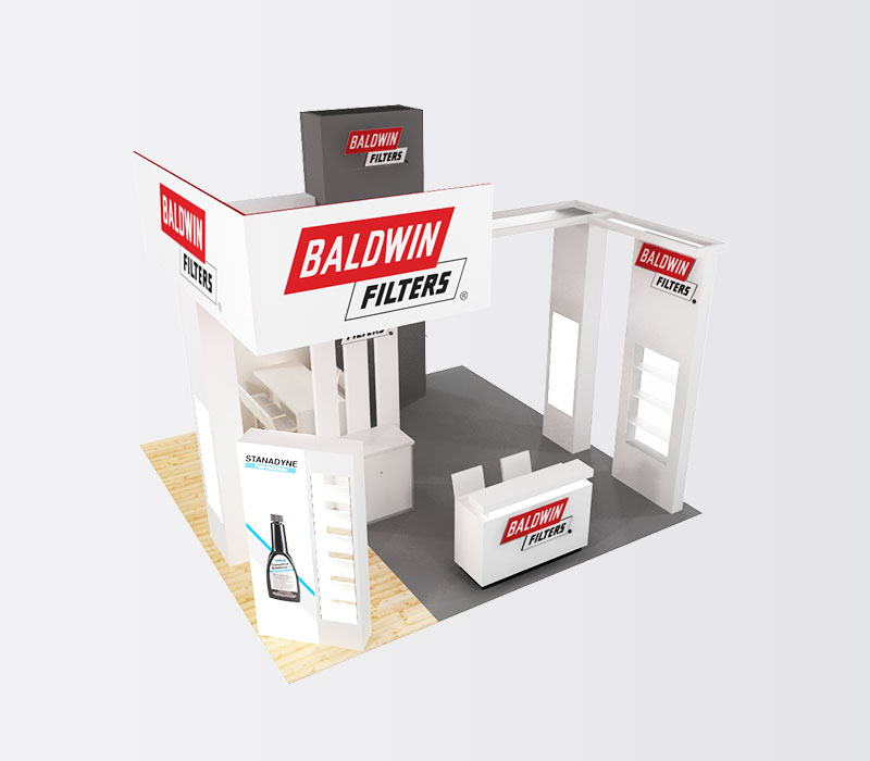 BaldwinFilters 20x20 Trade Show Display